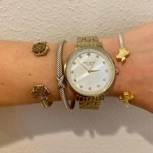 Gold Kate Spade Watch with Pave